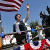 Star Wars characters, including Han Solo, left, and Darth Vader, wave from the JediOKC float during the Edmond LibertyFest Parade in downtown Edmond, Okla., on Independence Day, Friday, July 4, 2014. Photo by Nate Billings, The Oklahoman