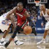 Miami\'s Dwyane Wade (3) drives up court during the NBA basketball game between Oklahoma City and Miami at the OKC Arena in Oklahoma City, Thursday, Jan. 30, 2011. Photo by Sarah Phipps, The Oklahoman