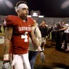 Oklahoma\'s Kenny Stills (4) walks of the field after the college football game between the University of Oklahoma Sooners (OU) and the Texas Tech University Red Raiders (TTU) at Gaylord Family-Oklahoma Memorial Stadium in Norman, Okla., Sunday, Oct. 23, 2011. OU lost 41-38. Photo by Bryan Terry, The Oklahoman
