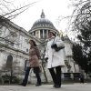 A view of the St. Paul\'s Cathedral in central London, Tuesday, April 9, 2013. The funeral service of former British Prime Minister Margaret Thatcher will be held at the cathedral on Wednesday, April 17. Thatcher, the combative