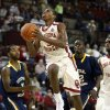 Buddy Hield (3) shoots in the second half as the University of Oklahoma (OU) Sooners men\'s basketball team defeats the Central Oklahoma Bronchos 94-66 at McCasland Field House on Wednesday, Nov. 7, 2012 in Norman, Okla. Photo by Steve Sisney, The Oklahoman