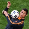 Photo - Real's Cristiano Ronaldo, controls the ball, during a training session ahead of Saturday's Champions League final soccer match between Real Madrid and Atletico Madrid, in Luz stadium in Lisbon, Portugal, Friday, May 23, 2014. (AP Photo/Paulo Duarte)