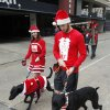 Jacob and Julie Bushong and their dogs Theadore and Annabelle begin the SandRidge Santa Run in downtown Oklahoma City, OK, Saturday, December 8, 2012, By Paul Hellstern, The Oklahoman