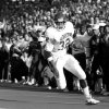 OU\'s Mike Gaddis during the University of Oklahoma (OU) at Oklahoma State University (OSU) Bedlam college football in Stillwater, Nov. 5, 1988. PHOTO BY JIM ARGO THE OKLAHOMAN. ORG XMIT: KOD