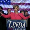 Republican candidate for U.S. Senate Linda McMahon thanks supporters in Stamford, Conn., Tuesday, Nov. 6, 2012. McMahon conceded the race to Democratic opponent Chris Murphy for the Senate seat now held by Joe Lieberman, an independent who\'s retiring. (AP Photo/Charles Krupa)