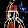CHILD / CHILDREN / KIDS / HOLIDAY / CHRISTMAS LIGHTS: Annie Davis, 9, stands inside a lighted snowman during the Mayor\'s Tree Lighting at Shannon Miller Park in Edmond, Okla., Saturday, Dec. 8, 2012. Photo by Bryan Terry, The Oklahoman