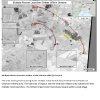 Photo - This fourth page of a four page document released by the U.S. State Department in Washington, July 27, 2014  shows a satellite image that purports to shows ground scarring at two multiple rocket launch sites oriented in the direction of Ukraine military units. The wide area of impacts near the Ukrainian military units indicates fire from multiple rocket launchers. The bottom impact crater shows impact within a local village. The United States says the images back up its claims that rockets have been fired from Russia into eastern Ukraine and heavy artillery for separatists has also crossed the border. (AP Photo/U.S. State Department)