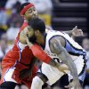 Memphis Grizzlies\' O.J. Mayo (32) is pressured by Los Angeles Clippers\' Mo Williams during the first half in Game 1 of a first-round NBA basketball playoff series, Sunday, April 29, 2012, in Memphis, Tenn. (AP Photo/Danny Johnston)