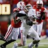 Oklahoma\'s Cameron Kenney (6) is brought down by Nebraska\'s Larry Asante (4) during the first half of the college football game between the University of Oklahoma Sooners (OU) and the University of Nebraska Cornhuskers (NU) on Saturday, Nov. 7, 2009, in Lincoln, Neb. Photo by Chris Landsberger, The Oklahoman
