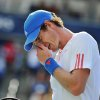 Andy Murray of Great Britain, reacts to a lost point against Flavio Cipolla of Italy, at the Rogers Cup men\'s tennis tournament in Toronto, Wednesday, Aug. 8, 2012. (AP Photo/The Canadian Press, Aaron Vincent Elkaim)