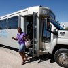 A rider steps off an Edmond Citylink bus after riding back from downtown Oklahoma City, Thursday afternoon, Sep. 29, 2011. Photo by Jim Beckel, The Oklahoman
