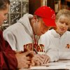 Beau Blankenship signs a letter of intent to play college football at Iowa State University as his parents Charlie and Cynthia watch at Norman North High School in Norman, Okla. on Wednesday, Feb. 4, 2009. Photo by Steve Sisney, The Oklahoman