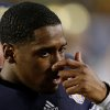 Photo - Notre Dame quarterback Everett Golson is seen on the bench near the end of the BCS National Championship college football game Monday, Jan. 7, 2013, in Miami. Alabama won 42-14. (AP Photo/Chris O'Meara)