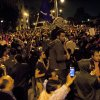 Egyptian protesters chant anti Muslim Brotherhood slogans during a demonstration in front of the presidential palace, in Cairo, Egypt, Tuesday, Dec. 4, 2012. A protest by tens of thousands of Egyptians outside the presidential palace in Cairo turned violent on Tuesday as tensions grew over Islamist President Mohammed Morsi\'s seizure of nearly unrestricted powers and a draft constitution hurriedly adopted by his allies. (AP Photo/Nasser Nasser)