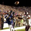 Photo -   Louisiana Tech's Quinton Patton, left, catches a pass for a touchdown during an NCAA college football game against Texas A&M in Shreveport, La., Saturday, Oct. 13, 2012. (AP Photo/Kita K Wright)