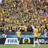 Photo - Australian fans greet their players after the group B World Cup soccer match between Australia and the Netherlands at the Estadio Beira-Rio in Porto Alegre, Brazil, Wednesday, June 18, 2014.  The Netherlands won the match 3-2.    (AP Photo/Martin Meissner)