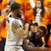 Oklahoma State\'s Michael Cobbins (20) defends Gonzaga\'s Gary Bell, Jr. (5) during a men\'s college basketball game between Oklahoma State University (OSU) and Gonzaga at Gallagher-Iba Arena in Stillwater, Okla., Monday, Dec. 31, 2012. Photo by Nate Billings, The Oklahoman