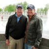 Photo - Bill Pummill, left, and grandson Lowell Armstrong  at the World War II Memorial in Washington D.C.  Chris Casteel - Chris Casteel, The Oklahoman