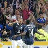 Photo - French soccer Karim Benzema, left, reacts after scoring against Jamaica with Blaise Matuidi during the friendly soccer match between France and Jamaica at the Lille Metropole stadium, in Villeneuve d'Ascq, northern France, Sunday, June 8, 2014.  France in preparation for the upcoming FIFA soccer World Cup in Brazil starting on 12 June. (AP Photo/Jacques Brinon)