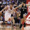 Brooklyn Nets\' Deron Williams (8) chases Houston Rockets\' Chandler Parsons (25) during the second half of an NBA basketball game Saturday, Jan. 26, 2013, in Houston. The Rockets won 119-106. (AP Photo/Pat Sullivan)