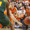 OSU\'s Christien Sager (15) passes the ball in the first half of a men\'s college basketball game between the Oklahoma State University Cowboys and the Baylor University Bears at Gallagher-Iba Arena in Stillwater, Okla., Saturday, Feb. 4, 2012. Photo by Nate Billings, The Oklahoman