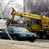 WINTER / COLD / WEATHER / ICE STORM: City of Tulsa public works crew removing broken branches from Riverside Drive near 38th Street in Tulsa Monday Dec. 10, 2007. (Photo by Mel Root)