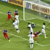 United States\' John Brooks, bottom left, celebrates scoring his side\'s second goal during the group G World Cup soccer match between Ghana and the United States at the Arena das Dunas in Natal, Brazil, Monday, June 16, 2014. The United States defeated Ghana 2-1. (AP Photo/Hassan Ammar)