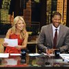 "Photo -   This undated photo shows former football player Michael Strahan, right, and host Kelly Ripa during Strahan's guest-host appearance on ""Live! with Kelly,"" earlier this year in New York. Strahan is getting a permanent job in morning television as Kelly Ripa's co-host. Strahan replaces Regis Philbin on the syndicated ""Live! With Kelly"" show, adding his name to the title. The gap-toothed former New York Giant is currently a host of ""Fox NFL Sunday."" He was one of several men to get tryouts with Ripa as the show rotated several potential replacements since Philbin left last November. (AP Photo/Disney-ABC Domestic TV, Donna Svennevik)"