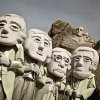 This undated photo provide by the South Dakota Department of Tourism shows The Mount Rushmore Mascots posing at the Mount Rushmore National Memorial in Keystone, S.D. The mascots are playing a big role in South Dakota\'s efforts to draw tourists to the state this year. (AP Photo/Courtesy of the South Dakota Department of Tourism)