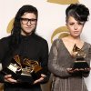 Skrillex, left, winner of the awards for best dance/electronica album