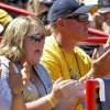 Joe and Mickey Henderson cheer for during a Women\'s College World Series game between California and LSUat ASA Hall of Fame Stadium in Oklahoma City, Thursday, May 31, 2012. Joe and Mickey\'s daughter Jolene Henderson pitches for California. Photo by Bryan Terry, The Oklahoman