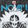 "Photo - The special ComicsPRO cover to ""Nova"" No. 1, distributed at the annual membership meeting of the organization. Marvel Comics. <strong></strong>"
