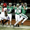 Irish receiver Cody Chancellor catches a pass and carries to the end zone on a 72 yard touchdown as the Bishop McGuinness Irish play the Carl Albert Titans in a Class 5A semi-final playoff game at Harve Collins Field on Friday, Nov. 23, 2012 in Norman, Okla. Trailing is Titan Dillon Lohr. Photo by Steve Sisney, The Oklahoman