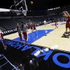 The OU Sooners warm up for practice during the press conference and practice day at the Oklahoma City Regional for the NCAA women\'s college basketball tournament at Chesapeake Energy Arena in Oklahoma City, Saturday, March 30, 2013. Photo by Nate Billings, The Oklahoman