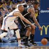 Oklahoma City\'s Russell Westbrook (0) defends on Brooklyn Nets\' Joe Johnson (7) during the NBA basketball game between the Oklahoma City Thunder and the Brooklyn Nets at the Chesapeake Energy Arena on Wednesday, Jan. 2, 2013, in Oklahoma City, Okla. Photo by Chris Landsberger, The Oklahoman