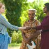 File - In this undated file film publicity image released by Disney, from left, Emma Stone, Octavia Spencer and Viola Davis are shown in a scene from