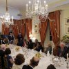 England\'s Prince Harry, standing right, with British Ambassador Sir Peter Westmacott, speaks at a dinner at the British Ambassador\'s residence, Thursday, May 9, 2013 in Washington. (AP Photo/Alex Brandon, Pool)