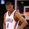 OKLAHOMA CITY THUNDER NBA BASKETBALL / LOS ANGELES CLIPPERS: Russell Westbrook looks to the bench during the Thunder - L.A. Clippers game December 16, 2008 in Oklahoma City. BY HUGH SCOTT, THE OKLAHOMAN ORG XMIT: KOD