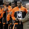 OSU\'s James Anderson is presented with the Big 12 Player of the Year award before the college basketball game during the men\'s Big 12 Championship tournament at the Sprint Center on Wednesday, March 10, 2010, in Kansas City, Mo. Photo by Bryan Terry, The Oklahoman