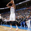 Oklahoma City\'s Thabo Sefolosha (2) shoots a three-point basket during an NBA basketball game between the Oklahoma City Thunder and the Toronto Raptors at Chesapeake Energy Arena in Oklahoma City, Tuesday, Nov. 6, 2012. Tuesday, Nov. 6, 2012. Oklahoma City won 108-88. Photo by Bryan Terry, The Oklahoman