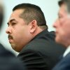 Photo - ADDS LOCATION-Former Fullerton police Officer Manuel Ramos reacts after being acquitted Monday Jan. 13, 2014, in Santa Ana, Calif.,  of second-degree murder and involuntary manslaughter charges stemming from the 2011 death of transient Kelly Thomas.  (AP Photo/Mindy Schauer, Pool)