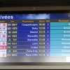 Photo - An arrival information screen shows the delayed Air Algerie flight 5017 (top) at the Houari Boumediene airport near Algiers, Algeria, Thursday, July 24, 2014. An Air Algerie flight carrying 116 people from Burkina Faso to Algeria's capital disappeared from radar early Thursday over northern Mali and