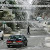 WINTER / COLD / WEATHER: Streets in Jones are icy. Ice storm in eastern Oklahoma County, Monday morning, Dec. 10, 2007. By Jim Beckel, The Oklahoman. ORG XMIT: KOD