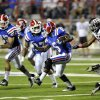 Louisiana Tech\'s D. J. Banks (5) scrambles for yards during an NCAA college football game against Texas A&M in Shreveport, La., Saturday, Oct. 13, 2012. (AP Photo/Kita K Wright)