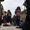 In this picture taken on Sunday, Jan. 13, 2013, villagers masked as cannibals parade during the carnival in Macedonia\'s southwestern village of Vevcani. Said to date from pagan times 1,400 years ago, the Vevcani carnival, with its colorful floats and masked revelers, has grown in popularity over the last decade and attracts thousands of visitors for the celebrations on St. Vasilij Day to welcome in the New Year according to the Julian calendar. (AP Photo/Boris Grdanoski)