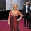 Actress Jacki Weaver arrives at the 85th Academy Awards at the Dolby Theatre on Sunday Feb. 24, 2013, in Los Angeles. (Photo by John Shearer/Invision/AP)