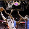 Miami\'s LeBron James (6) shoots as Oklahoma City\'s Kevin Durant (35) defends during Game 4 of the NBA Finals between the Oklahoma City Thunder and the Miami Heat at American Airlines Arena, Tuesday, June 19, 2012. Photo by Bryan Terry, The Oklahoman