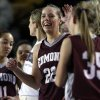 EDMOND MEMORIAL HIGH SCHOOL / SAPULPA HIGH SCHOOL / CLASS 6A GIRLS HIGH SCHOOL BASKETBALL / STATE TOURNAMENT: Edmond Memorial\'s Alie Decker (22) smiles in the final moments of their game against Sapulpa, at the Mabee Center, on Friday, Mar. 9, 2012. CORY YOUNG/Tulsa World ORG XMIT: DTI1203092145168224