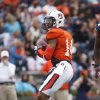 Photo - Auburn quarterback Nick Marshall drops back to throw in the first half of the NCAA college football team's A Day spring game Saturday, April 19, 2014 in Auburn, Ala.  (AP Photo/John Bazemore)
