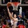 Oklahoma City\'s Nick Collison (4) goes to the basket during the NBA basketball game between the Oklahoma City Thunder and the Los Angeles at the Oklahoma City Arena, Wednesday, April 6, 2011. Photo by Bryan Terry, The Oklahoman
